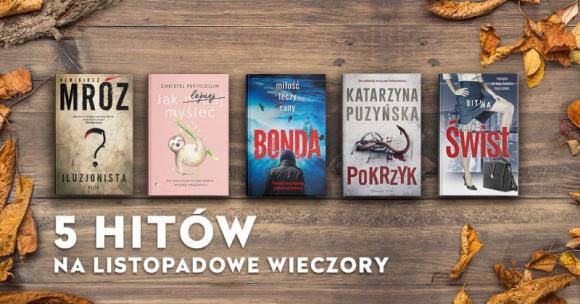 Top 5 książek na jesienno-zimowe wieczory